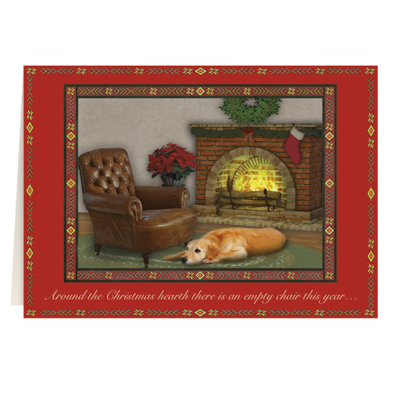 The Empty Chair Personalized Christmas Card - Set of 20 - View 2