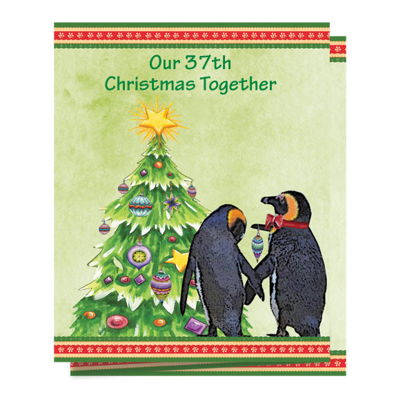 Our Years Together Personalized Christmas Card - Set of 20 - View 2