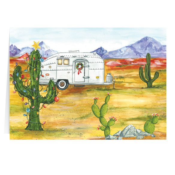 Desert Snowbirds Merry Christmas Personalized Christmas Card - Set of 20 - View 2