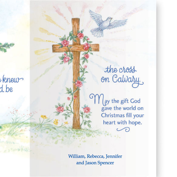 God Grew the Tree Personalized Christmas Card - Set of 20 - View 4