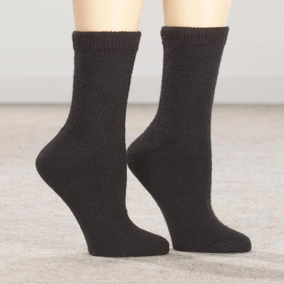 Healthy Steps™ Extra Plush Diabetic Socks - 3 Pack - View 2