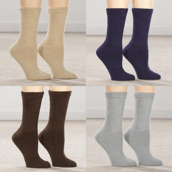 Healthy Steps™ 3 Pack Extra Plush Diabetic Socks - View 3