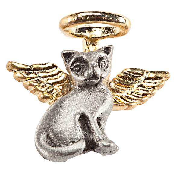 Cat Angel Pin - View 2