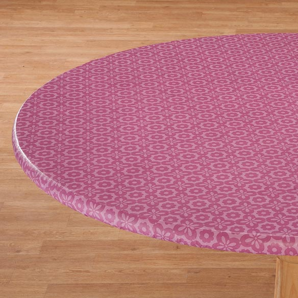 Geometric Flower Vinyl Elasticized Table Cover - View 2