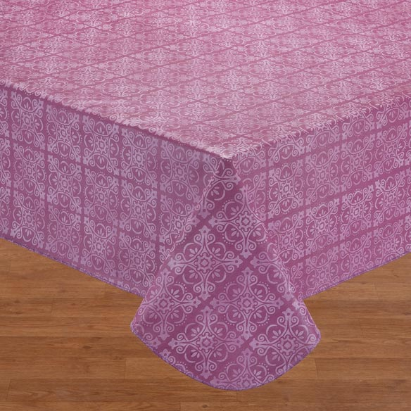 Tonal Medallion Vinyl Table Cover - View 3