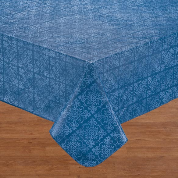 tonal medallion vinyl table cover table cover walter drake