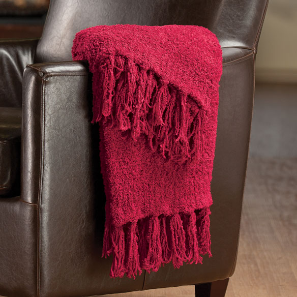 The Cozy Chenille Throw by OakRidge Comforts™ - View 3