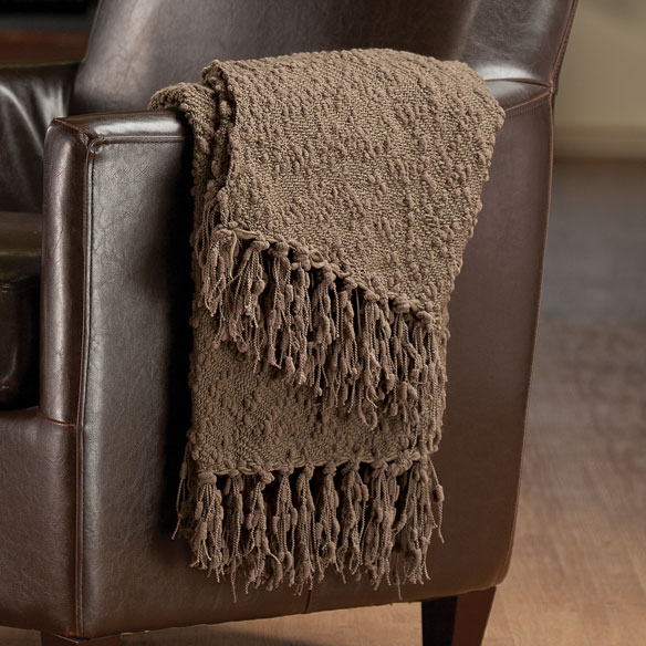 The PomPom Yarn Throw by OakRidge™ Comforts - View 2