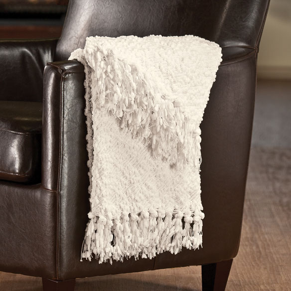 The PomPom Yarn Throw by OakRidge™ Comforts - View 3