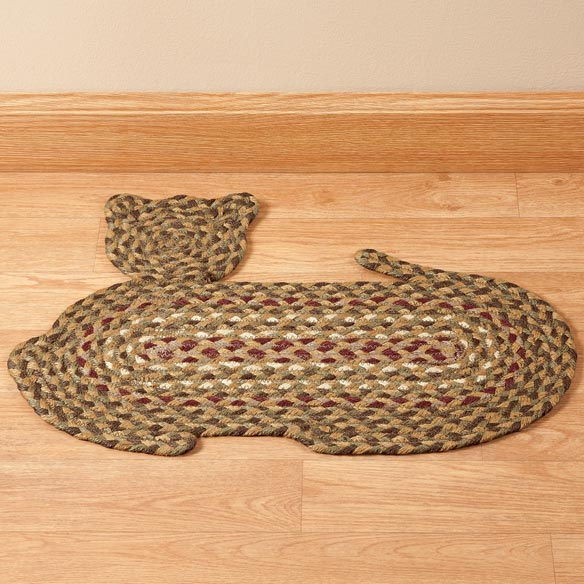 Cat Shaped Braided Rug - View 2