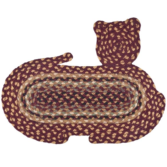 Cat Shaped Braided Rug - View 3