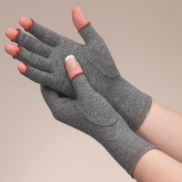 Colored Compression Gloves For Arthritis, 1 Pair - View 2