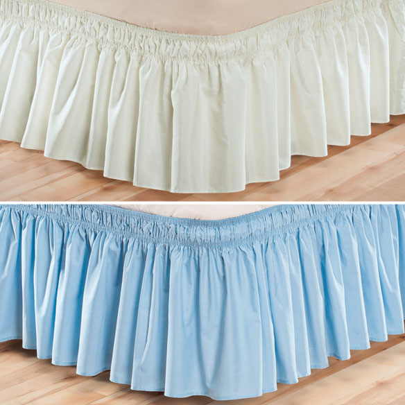 Solid Wrap Around Elastic Bed Skirt by OakRidge™ Comforts - View 3