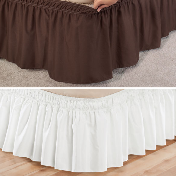 Solid Wrap Around Elastic Bed Skirt by OakRidge™ Comforts - View 4