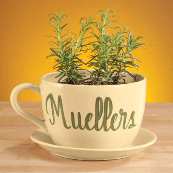 Personalized Teacup Planter - View 2
