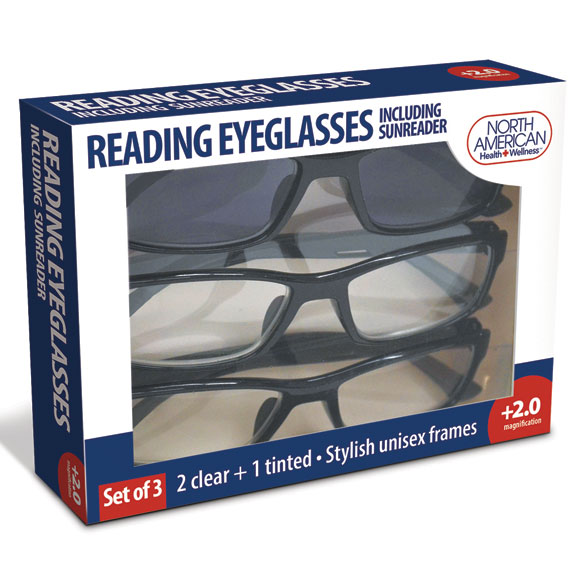 Reading Glasses with Sunreader, Set of 3 - View 2