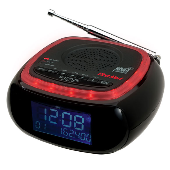 First Alert® Weather Band Clock Radio - View 3