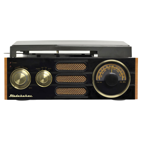 Studebaker 3-Speed Turntable with AM/FM Radio - View 2