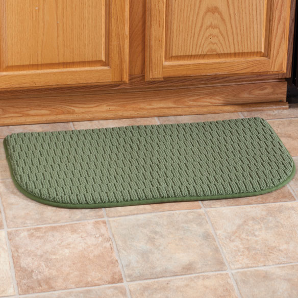 Solid Memory Foam Slice Rug - View 2