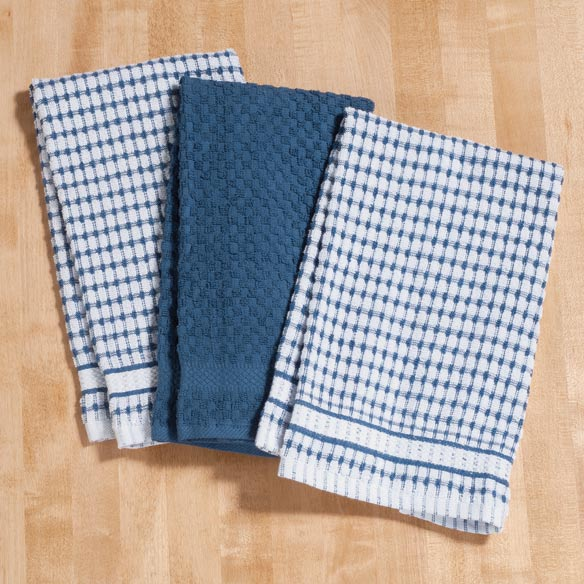 Terry Kitchen Towels, Set of 3 - View 2