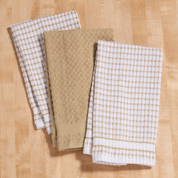 Terry Kitchen Towels, Set of 3 - View 3