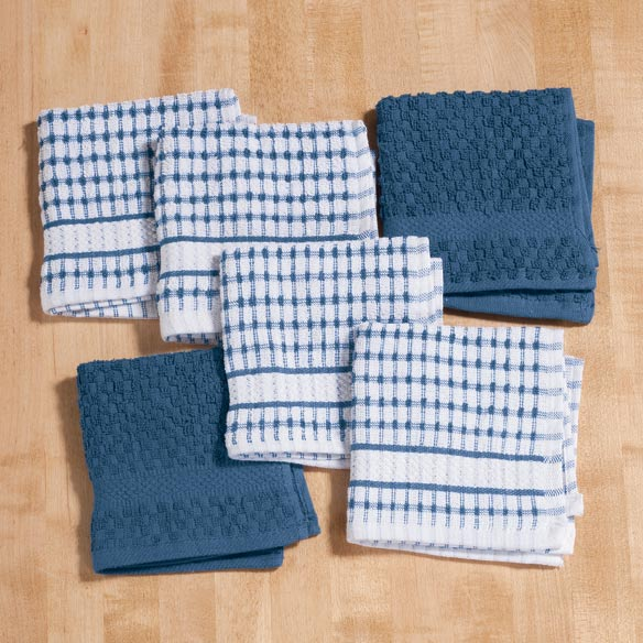 Terry Dish Cloths, Set of 6 - View 2