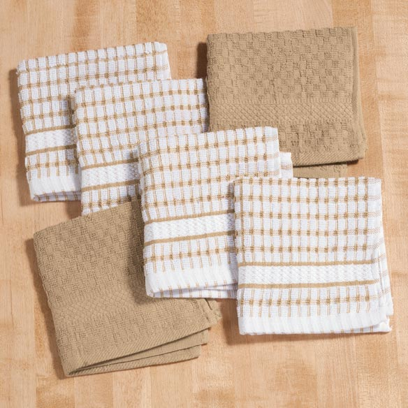 Terry Dish Cloths, Set of 6 - View 3
