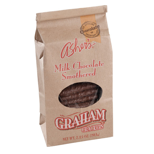 Asher's® Milk Chocolate Covered Graham Crackers - View 2