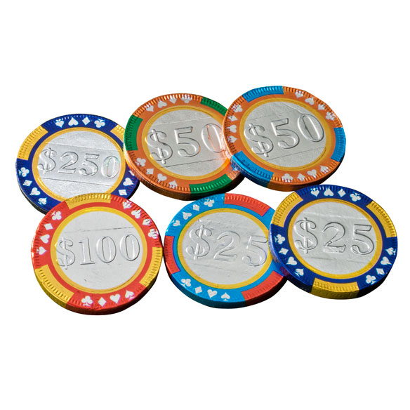 Milk Chocolate Mixed Casino Chips - View 2