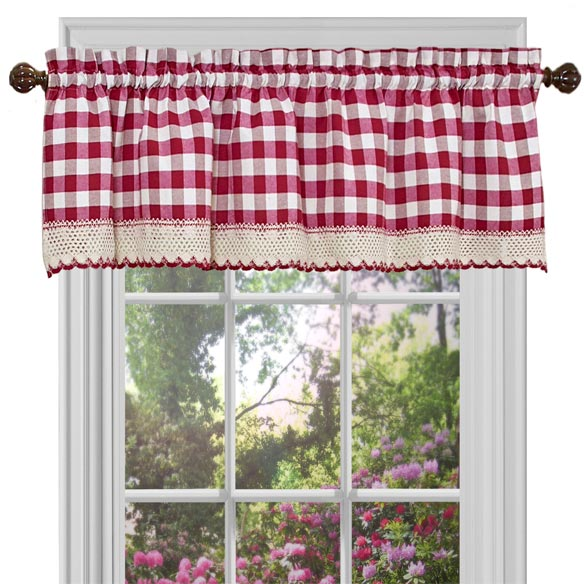 Buffalo Check Window Valance - View 2