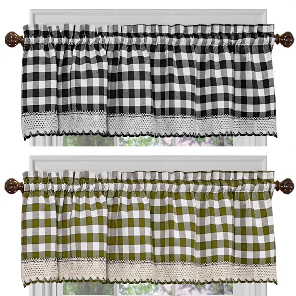 Buffalo Check Window Valance - View 3