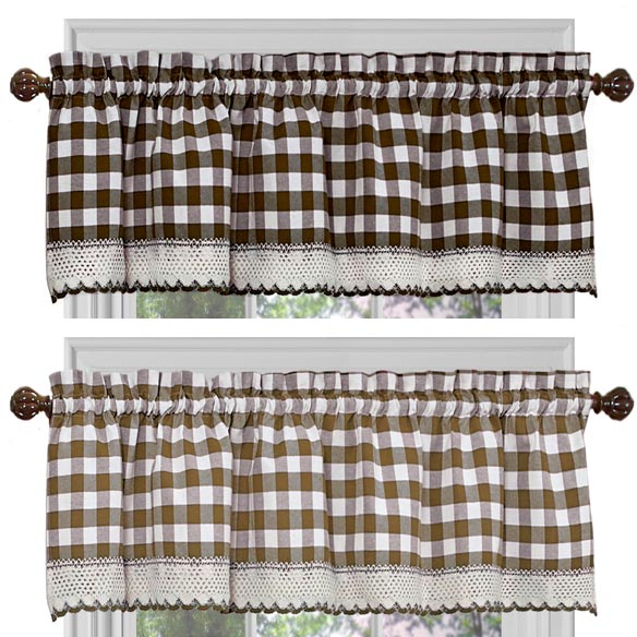 Buffalo Check Window Valance - View 4