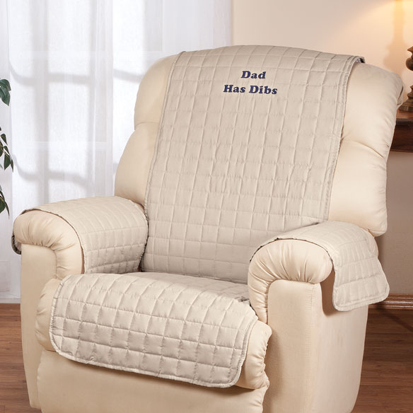 Personalized Beige Recliner Cover by OakRidge Comforts™ - View 2