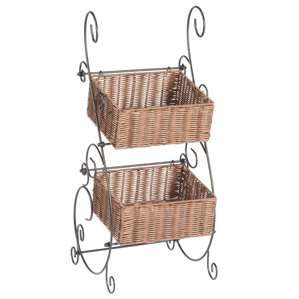Wicker & Metal Storage Baskets by OakRidge™ Accents - View 2