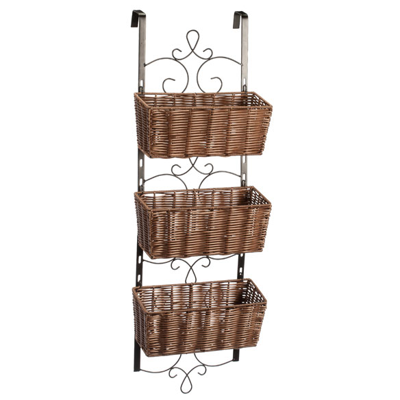 Over the Door Wicker & Metal Baskets by OakRidge™ Accents - View 2