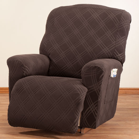 Double Diamond Stretch Recliner Cover - View 2