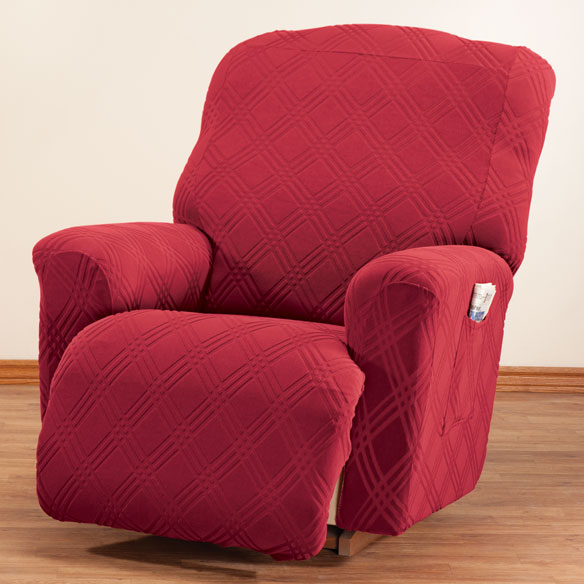 Double Diamond Stretch Recliner Cover - View 3