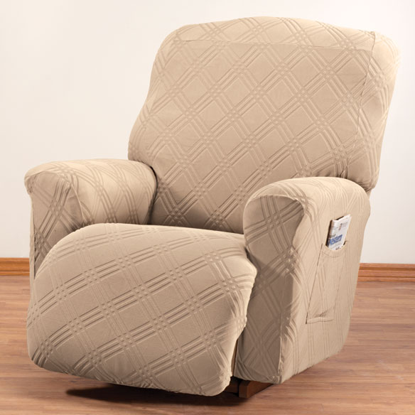 Double Diamond Stretch Recliner Cover - View 4
