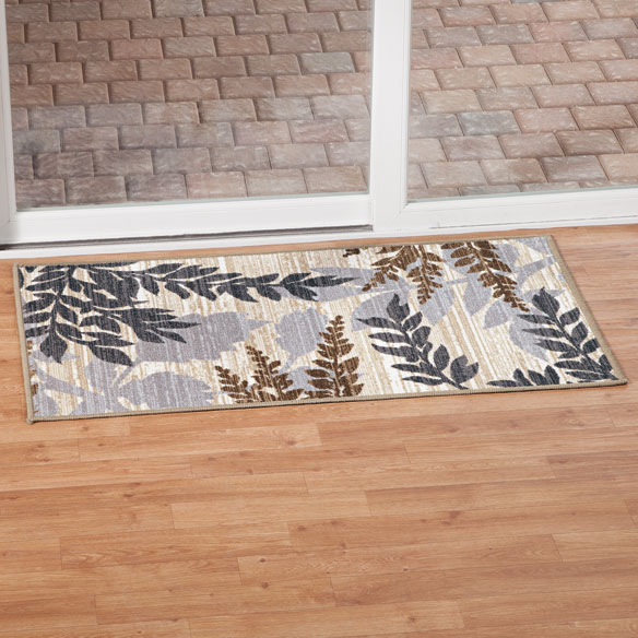 Leaf Print Accent Rug - View 2