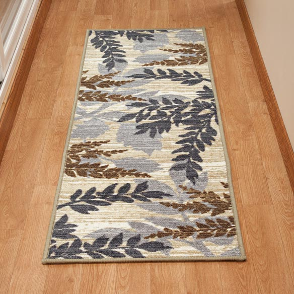 Leaf Print Accent Rug - View 3