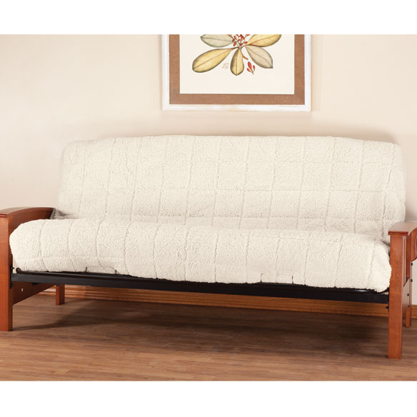 Waterproof Sherpa Futon Cover by OakRidge™ Comforts - View 2
