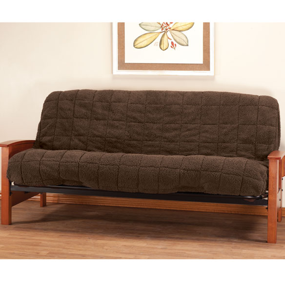 Waterproof Sherpa Futon Cover by OakRidge Comforts™ - View 3