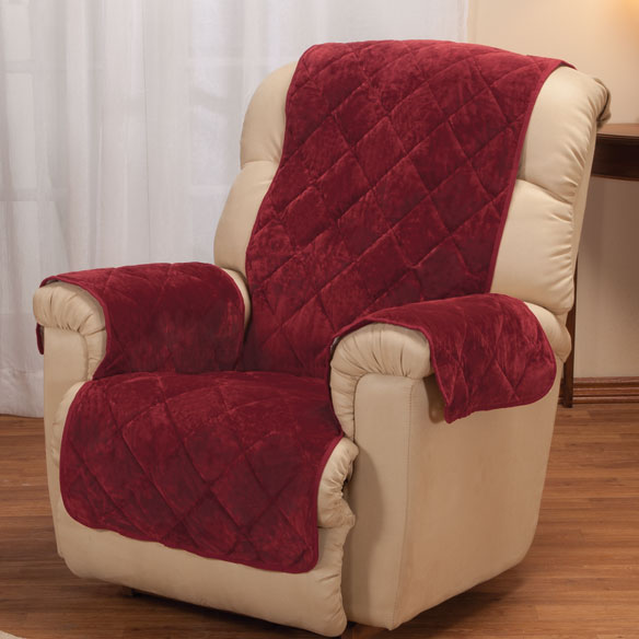 Fine Velvet Recliner Protector by OakRidge Comforts™ - View 2