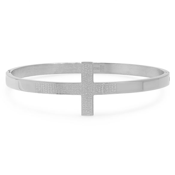 Lord's Prayer Cross Bracelet - View 2