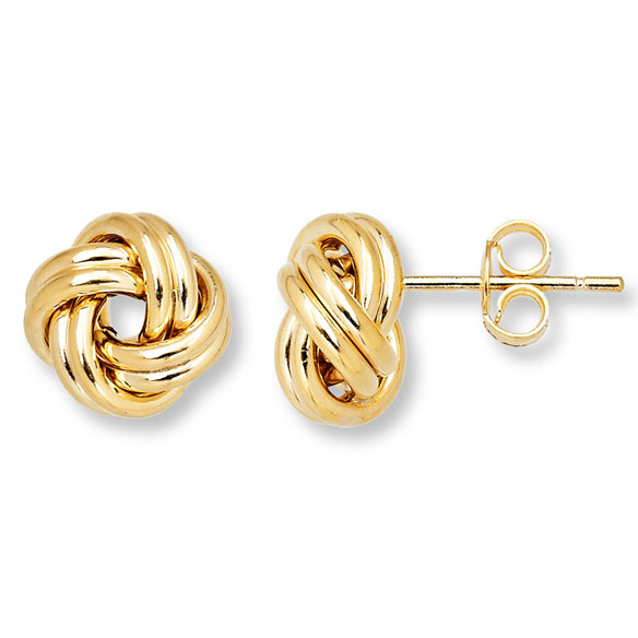 Love Knot Stud Earrings - View 2