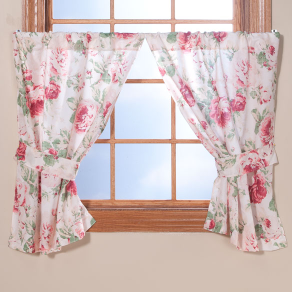 English Floral Window Curtains - View 3