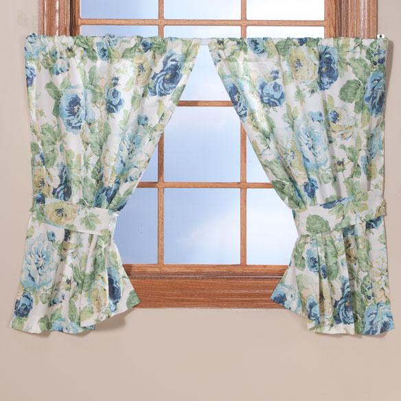 English Floral Window Curtains - View 4