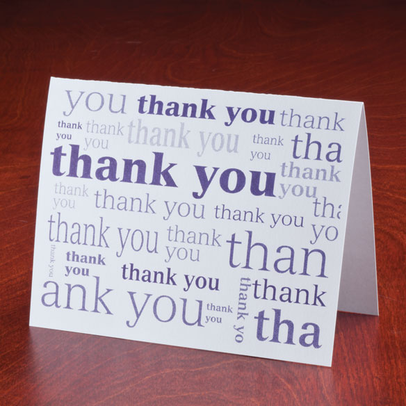 Many Thanks Note Cards, Set of 25 - View 2