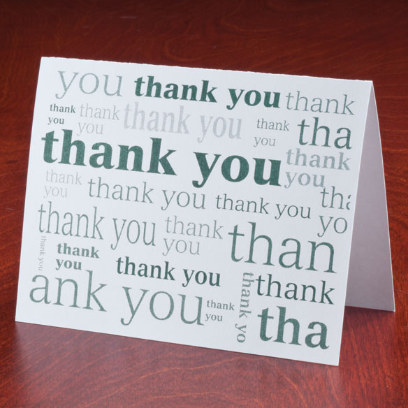 Many Thanks Note Cards, Set of 25 - View 3