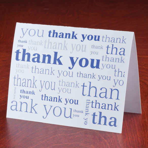 Many Thanks Note Cards, Set of 25 - View 4